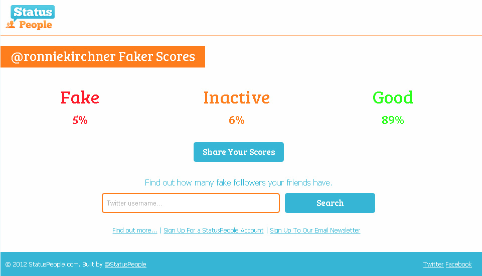 Fake twitter followers check a twitter follower tool h2osocial